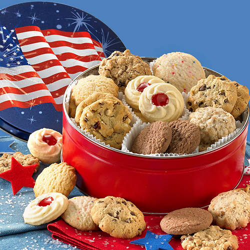 Patriotic Cookie Tin