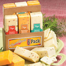 Cheese and Sausage Six Packs - Buy Both and Save!