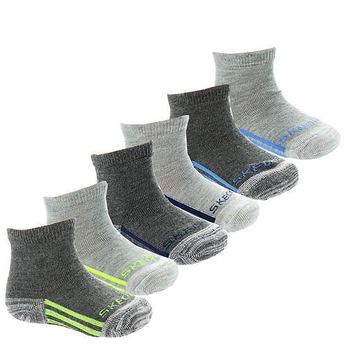 Skechers Boys' S105800 6-Pack Infant Anklets