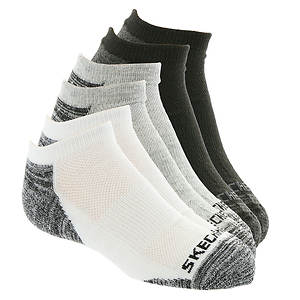 Skechers Boys' S106302 6-Pack Half Terry Low Cut Socks