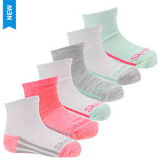 Skechers Girls' S106305 6-Pack Infant Anklets