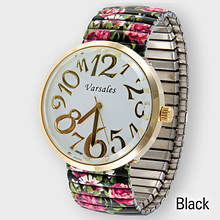 Flower Stretch Watch - Black