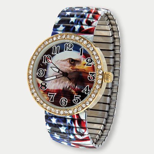 Patriotic Eagle Stretch Watch