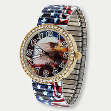 Patriotic Eagle Stretch Watch