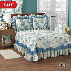 Geranium Bedspread - Blue