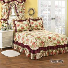 Geranium Bedspread - Burgundy