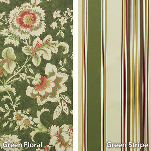 Mix 'n Match Stripe Foamback Curtains Floral Panel