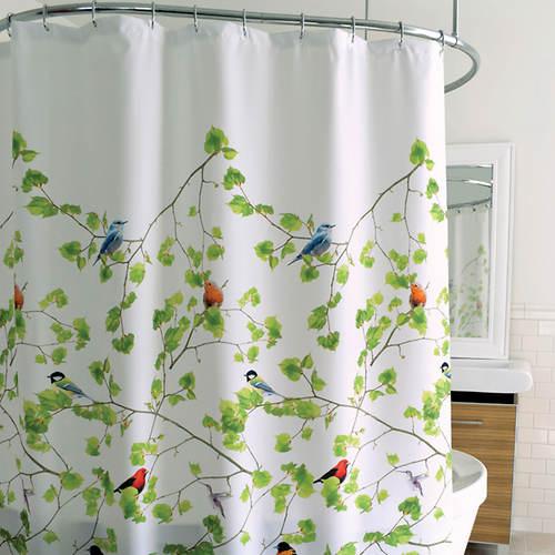Bird Terrace Shower Curtain