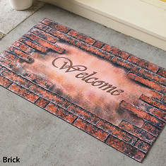 Rubber Welcome Mats - Brick