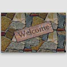 Rubber Welcome Mats - Stone