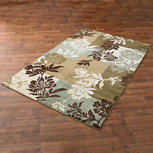 Floral Boxes Area Rug