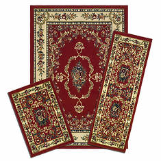3-Pc. Rug Set - Savonnerie Red