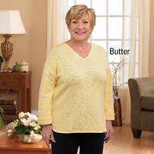 V-Neck Sweater - Butter