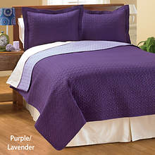 Reversible Quilt Set - Purple/Lavender