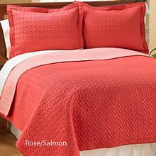 Reversible Quilt Set - Rose/Salmon