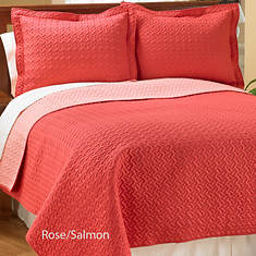 Reversible Quilt Set - Rose/Salmon