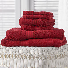 6-Pc. Egyptian Cotton Towels - Red