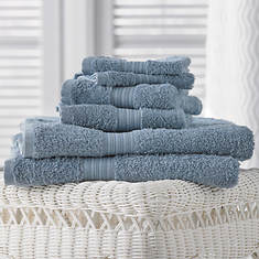 6-Pc. Egyptian Cotton Towels - Serenity Blue