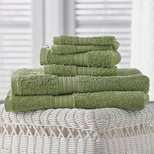 6-Pc. Egyptian Cotton Towels - Moss Green