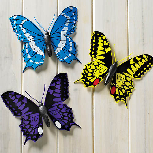 Outdoor Trio of Butterflies