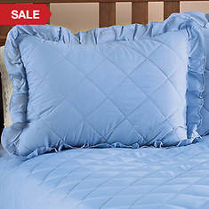 Quilted Sham - Blue