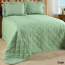 Quilted Bedspread - Sage