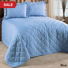 Quilted Bedspread - Blue