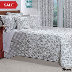 Botanica Quilted Bedspread - Stone