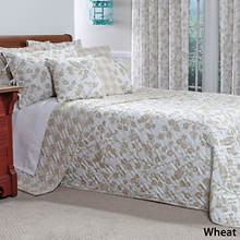 Botanica Quilted Bedspread - Wheat