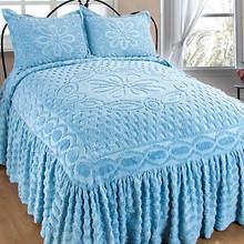 Chenille Bedspread - Blue