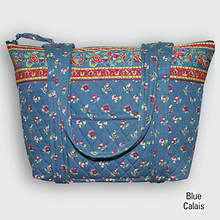 Quilted Tote - Blue Calais