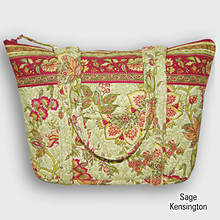 Quilted Tote - Sage Kensington