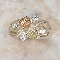 Black Hills Gold Cubic Zirconia Ring