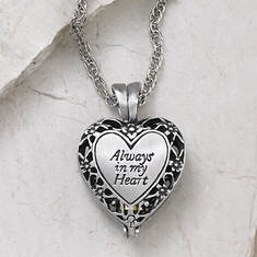 Always in My Heart Memorial Locket - Silver