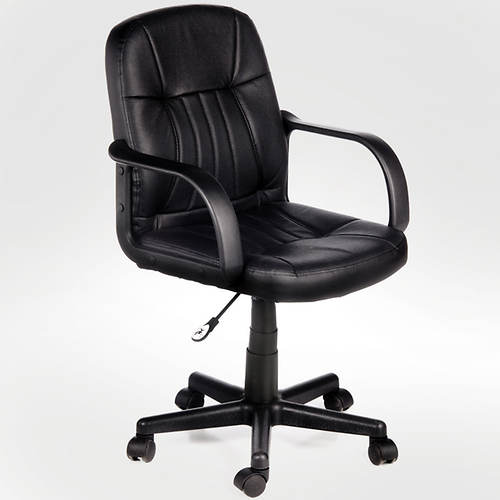 Leather Mid-Back Chair