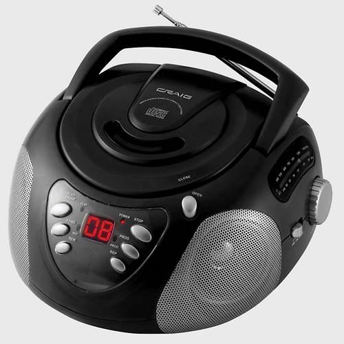 Craig® CD Boombox with AM/FM Radio