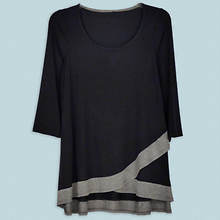 Crisscross Tunic Misses' - Black