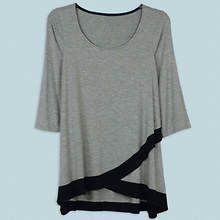 Crisscross Tunic Misses' - Charcoal
