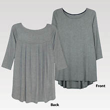 Pleated Back Top Women's - Charcoal