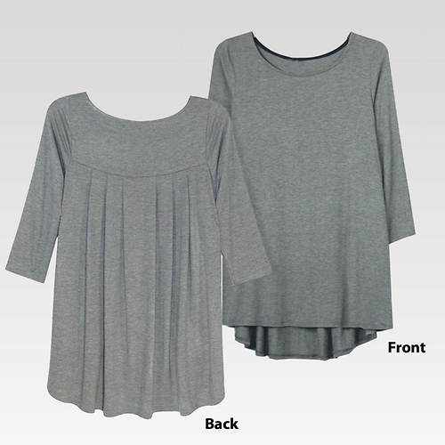 Pleated Back Top Misses'