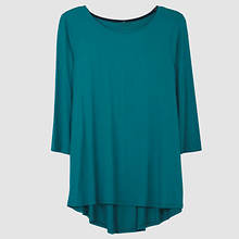 Pleated Back Top Misses' - Teal
