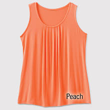 Pleated Front Tank - Misses' - Peach