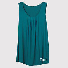 Pleated Front Tank Misses' - Teal