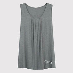 Pleated Front Tank Women's - Charcoal
