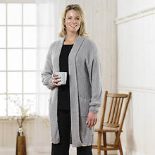 Boucle Sweater Jacket Women's - Gray