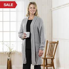 Boucle Sweater Jacket Women's - Gray