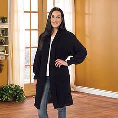 Boucle Sweater Jacket Misses' - Black