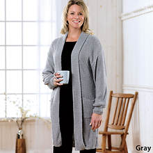 Boucle Sweater Jacket Misses' - Gray