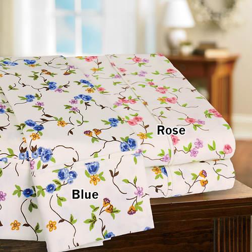Floral Vine 350-Thread Count Sheet Set