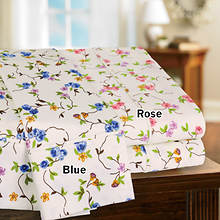 Floral Vine 350- Thread Count Sheet Set - Blue